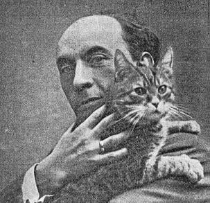 Heinrich Zimmermann and a cat